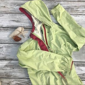 LL Bean woman's trail model rain jacket